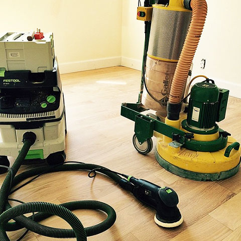 Fine detailed floor sanding equipment