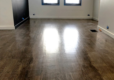 Los Angeles Hardwood Floor Before