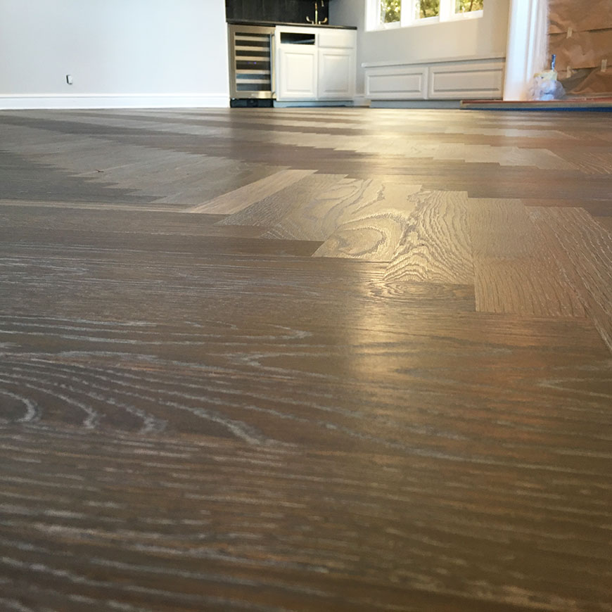 White Oak herringbone floor Bel Air