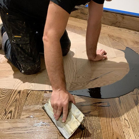 Wood floor staining in Los Angeles